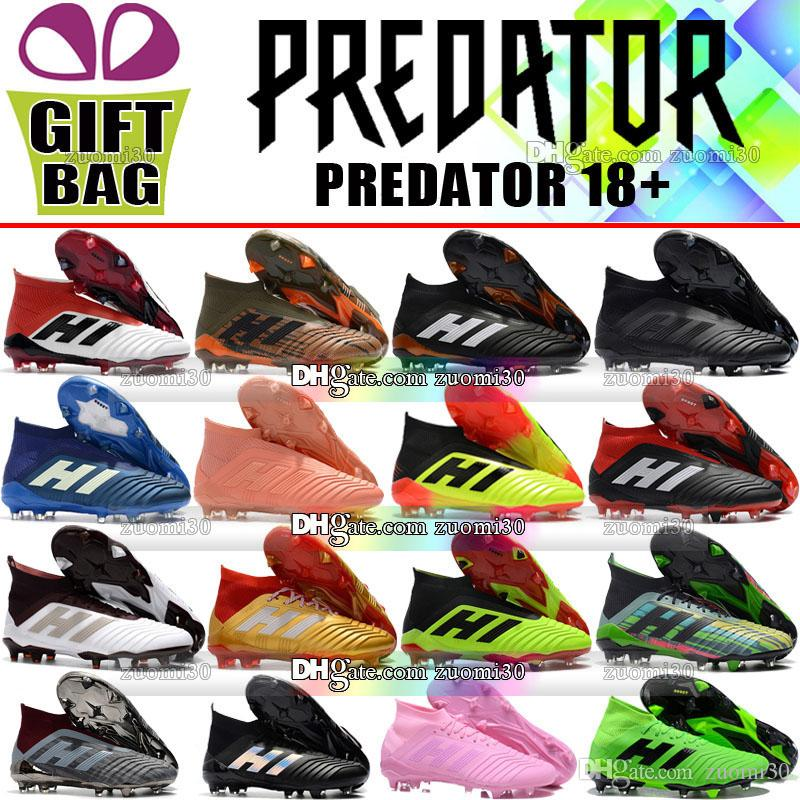 c0752e043965 Original Predator 18 Football Boots High Ankle Cheap Sale Trainers Predator  18.1 FG Soccer Shoes For Men Outdoor Leather Soccer Cleats Socks Predator  18 ...