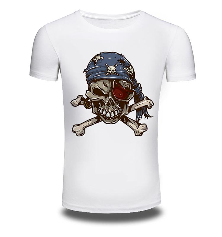 c00ba7cb3cbf New Mens Summer T Shirt Creative Skull Pirate Printed Casual Man S Plus  Width T Shirts Short Sleeve White Men Clothes Tee Print On Tee Shirt Go T  Shirts ...