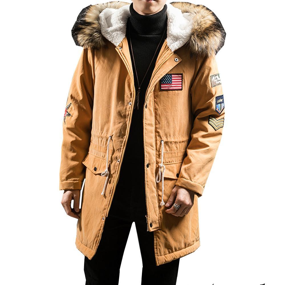 3b9f5cf9c7a7 2018 New Fashion Hooded Winter Jacket Men Thick Warm Fur Collar ...