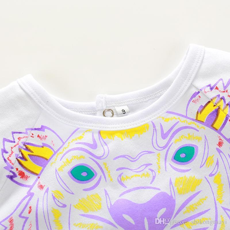 Varejo NOVO stlye verão bebê meninos macacão crianças roupas de manga Curta Do Bebê meninas Macacão de algodão macacão de Recém-nascido 0-24 M roupas de bebê