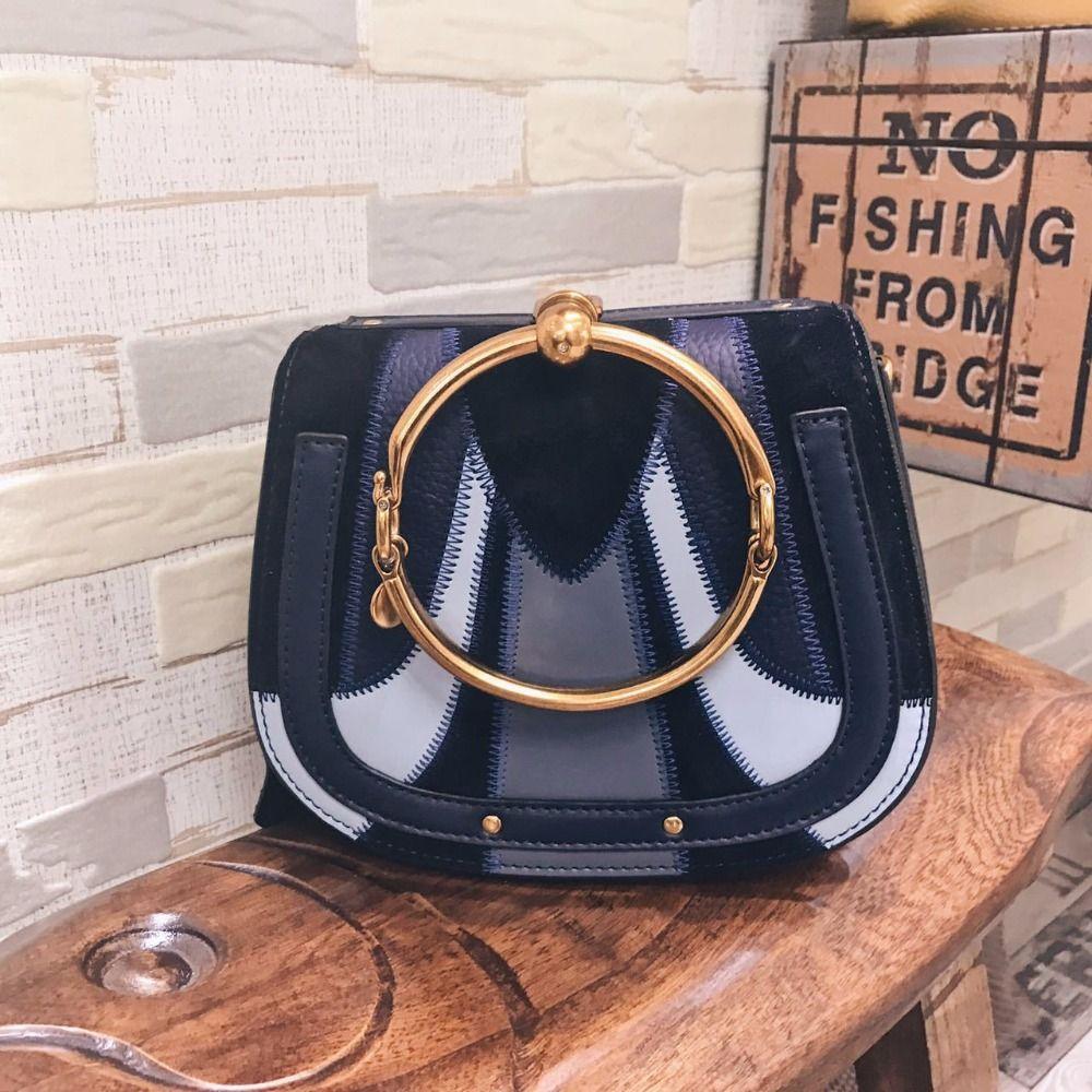 9075a7b6e0 Pig Handbags Women Bags Designer Ring Handle Tote Bags Rivet Hoop Saddle  Split Leather Crossbody Bags For Women Autumn New 802 Ladies Purses Handbag  ...