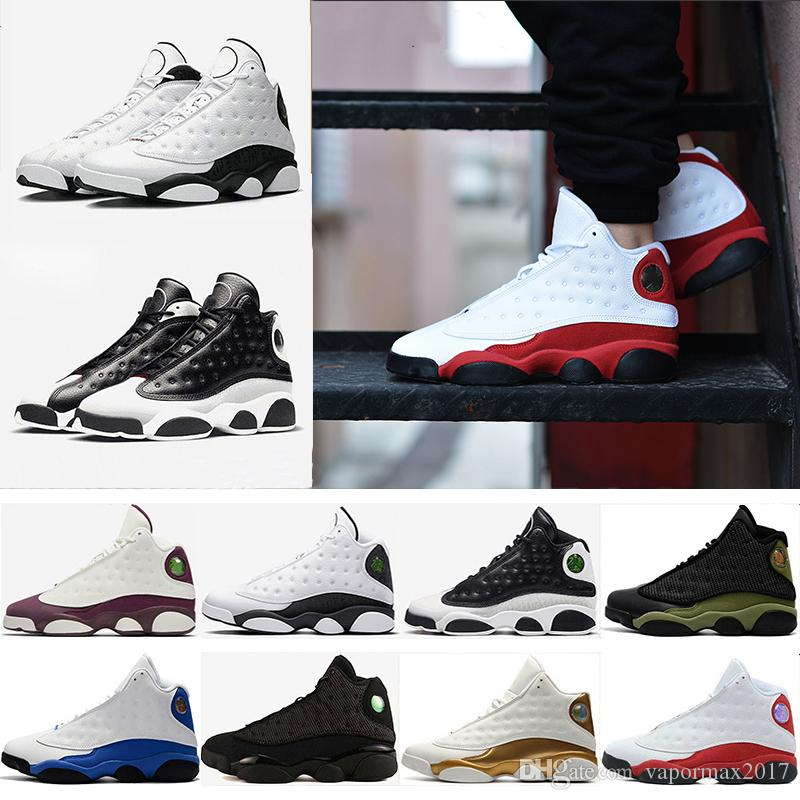 43d68024724 2018 Newest Chicago 13 Hyper Royal DMP Bred GS Bordeaux Hologram Barons  Chicago Playoff Men Basketball Shoes 13s Sports Sneaker 41 47 Basketball  Shoes For ...