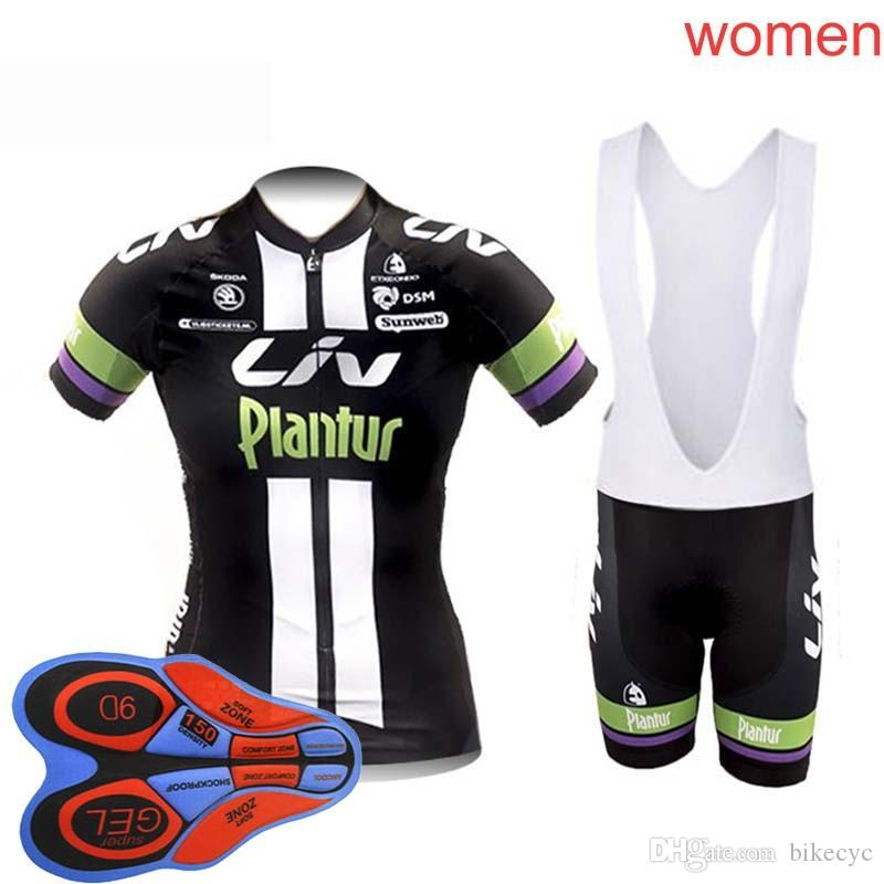 LIV Cycling Short Sleeves Jersey Bib Shorts Sets 9D Gel Pad New Hot Summer  Lady Bike Costume Cheap Clothes F2515 LIV Cycling Jersey Ropa Ciclismo  Hombre ... aeaa5472c