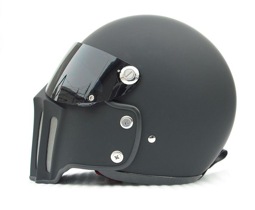 Buy Motorcycle Helmet >> Dot Motorcycle Helmet Full Face Vintage With Fiberglass Face Mask And Black Visor For Dirt Bike Cafe Racer Casco Custom Motocross Cycling