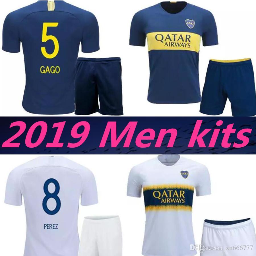 99253c0d7d593 2019 Adult Boca Juniors Uniforms OSVALDO PEREZ P GAGO Soccer Jersey ...