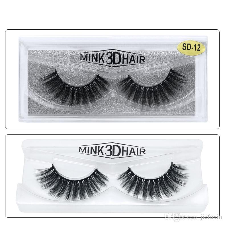 4368c0c86b2 JIEFUXIN 3D Handmade Mink Eyelashes Individual Natural False Eyelashes for  Beauty Makeup Fake Eye Lashes Extension Mink Eyelashes Mink Lashes Eyelashes  ...