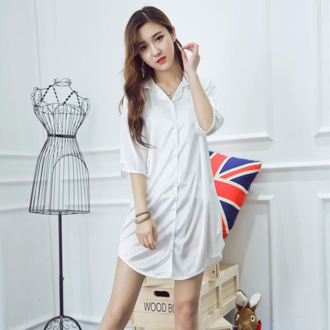 Are Hot girls in button up night shirt