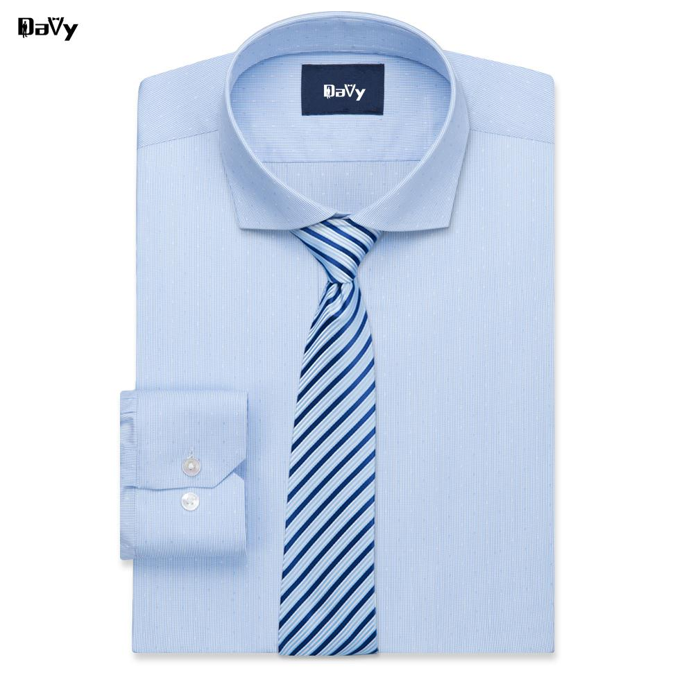 2019 Davy Custom Shirts Made By Hand Business Casual Slim Fit Shirt