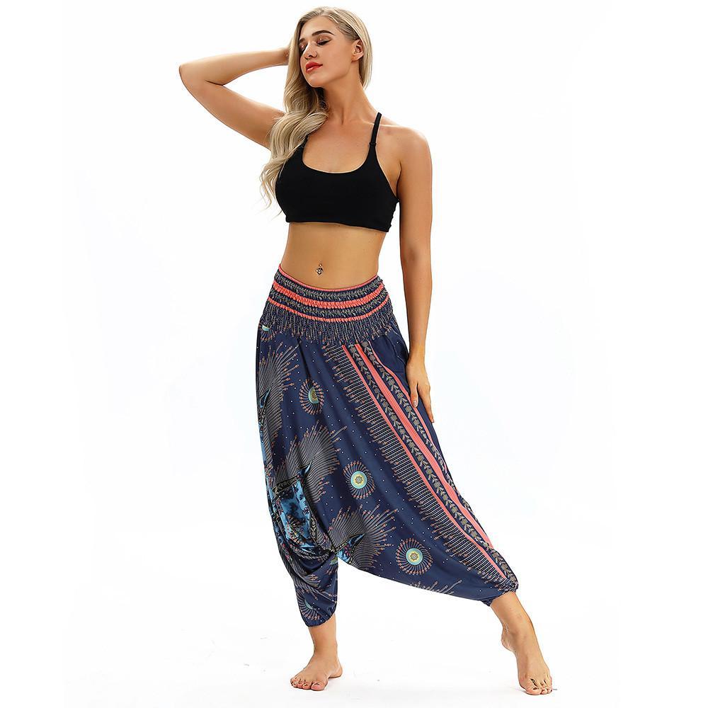 40b2b7f6c2c50 Yoga Pants Push Up Women Loose Yoga Trousers Baggy Aladdin Jumpsuit Harem  Pants Ladies Sports Wear Ropa Deportiva Mujer Gym Yoga Pants Cheap Yoga  Pants Yoga ...