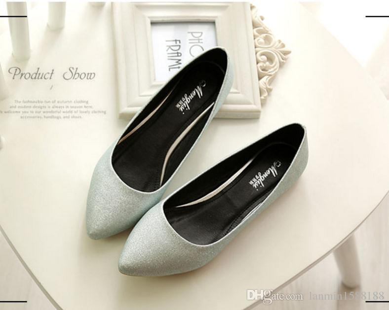 Free send Hot 2018 new style flat bottom Single shoes small size woman shoes 33-34 big size 41-45 pointed end