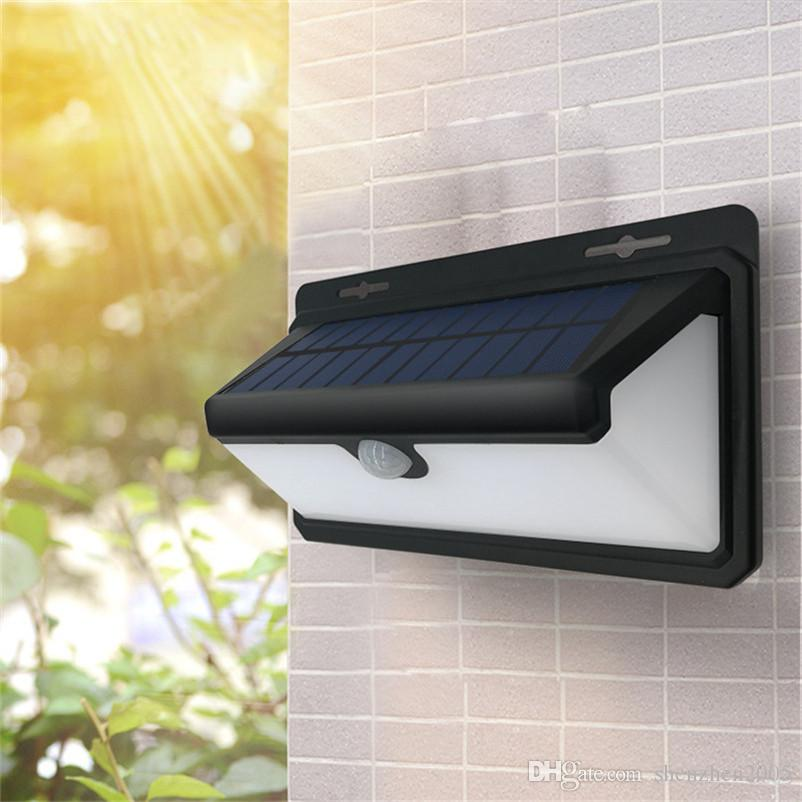 led outdoor garage lights pole yard 2018 solar led outdoor wall lamps pir motion sensor garden street light lamp exclusive wide angle security lights for garage from