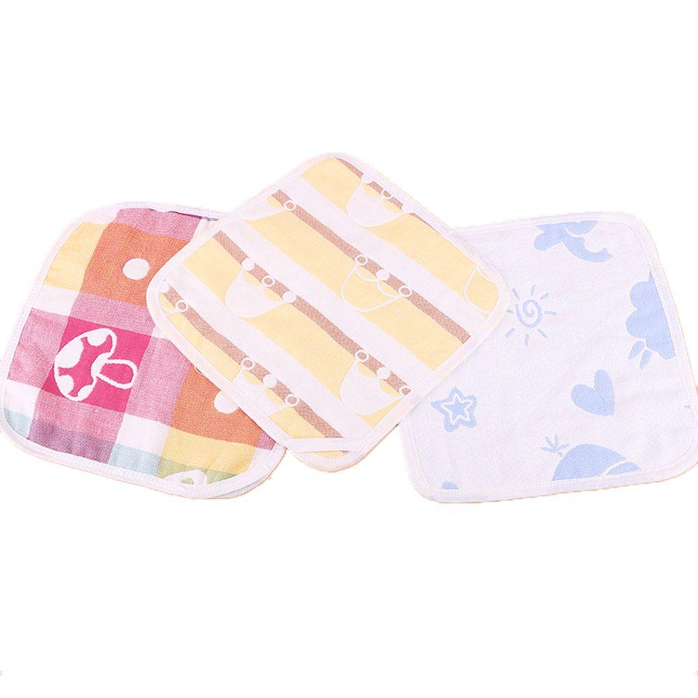abbastanza economico ottenere a buon mercato originale più votato 100% cotone sei strati fumetto garza mussola faccia viso asciugamano lavare  fazzoletti quadrati di stoffa neonato bambino alimentazione saliva ...