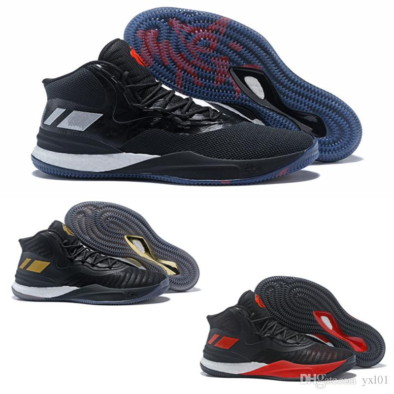 f5b1c2f37d6 2018 High Quality D Rose 8 VIII Black Gold Red Blue Wearproof Basketball  Shoes For Mens Trainers Derrick 8s Cheap Sports Sneakers Size40 46  Basketball Shoes ...
