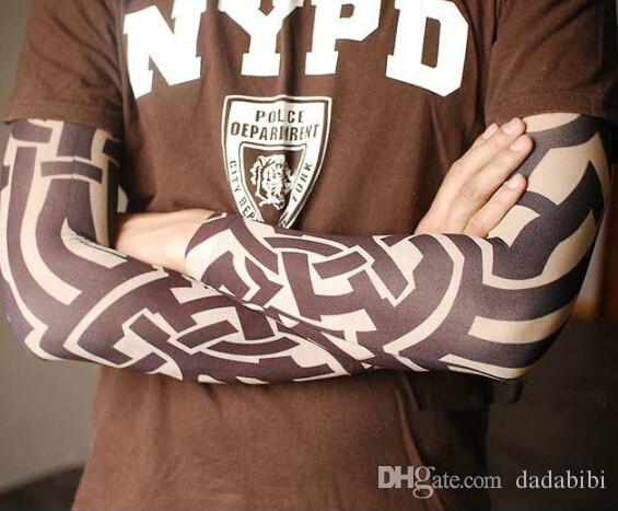 NEW ARRIVAL-mix elastic Fake temporary tattoo sleeve 3D art designs body Arm leg stockings tattoo cool men-women