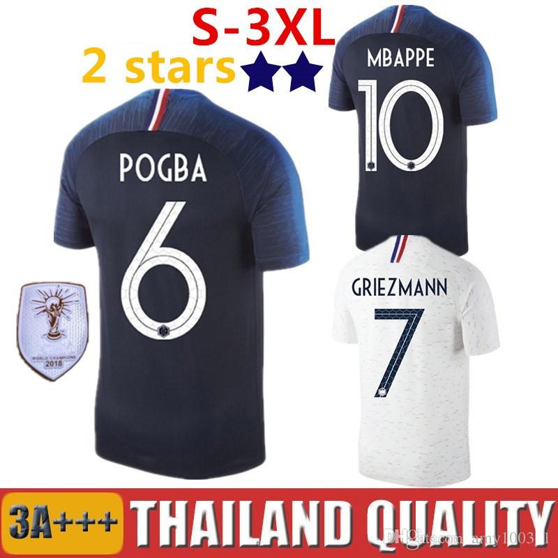 Compre 2018 MBAPPE World Cup França Camisas De Futebol POGBA Maillot  LACAZETTE KANTE GRIEZMANN DEMBELE GIROUD MATUIDI UMTITI Camiseta France  Camisa De ... faa4cfe934b33