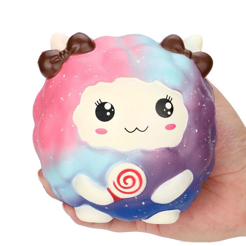 Novo 12 Cm Dos Desenhos Animados Kawaii Ovelha Squishy Lento Crescente Scented Squeeze Toy Coleção Cure Presente Para Crianças Adultos Alivia o Estresse