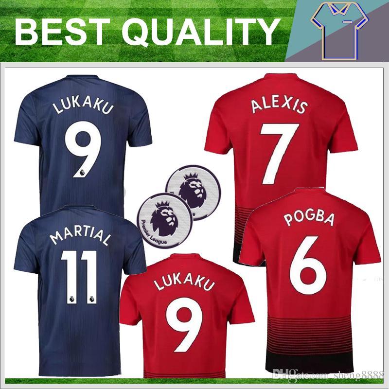 18 19 Adults Soccer Jerseys Men s Kit 2019 Football Shirt POGBA ... a67d4647f