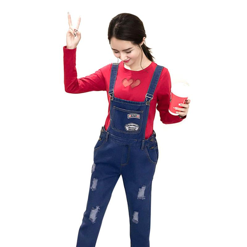 8602dbe142a 2019 Maternity Clothing Pants Spring Autumn Cotton Plus Size Overalls  Pregnant Women Large Size Suspender Trousers Jeans For Pregnant From  Henryk