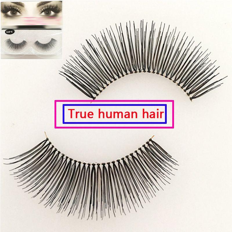 b300a29e847 Multipack Human Hair False Eyelashes Thick Long Lashes Classic Luxurious  Eye Makeup Eye Lashes Natual Pure Human Hair Eyelashes Wispy Lash Eyelash  ...