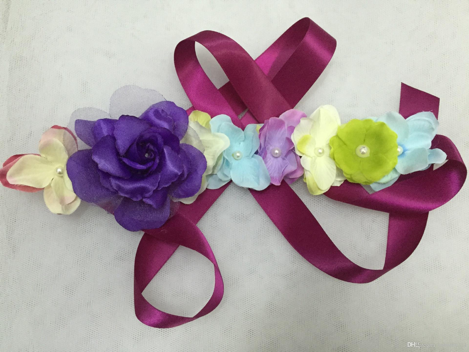 2018 nuevas faldas de flores de niña de flores para niños de Europa y América / Faldas de princesa de hadas de flores / vestido de rendimiento para niña Falda Puff