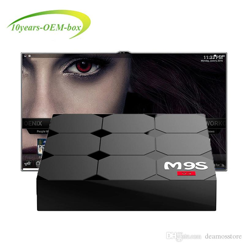 M9S V3 1GB 8GB Android6.0 OTT TV Box HDR H.265 HEVC 3D video play RK3229 Internet TV media players