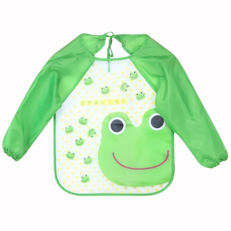 2019 Baby Feeding Bibs Infant Burp Cloths Long Sleeve Waterproof Coverall  Baby Kids Burp Cloths Feeding Smock Dinner Eating Accessory From Gomo 11ad2326a4b5