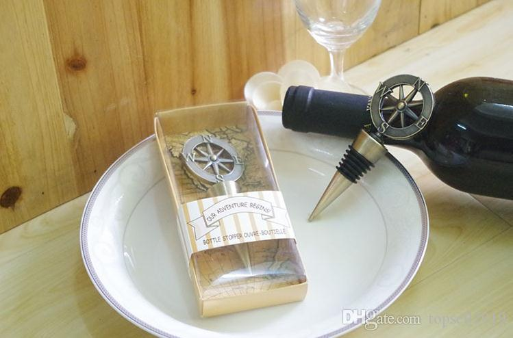 Золотой компас вина пробка свадебные сувениры и подарки открывалка для бутылок вина бар инструменты сувениры для партии Пасхи SN063