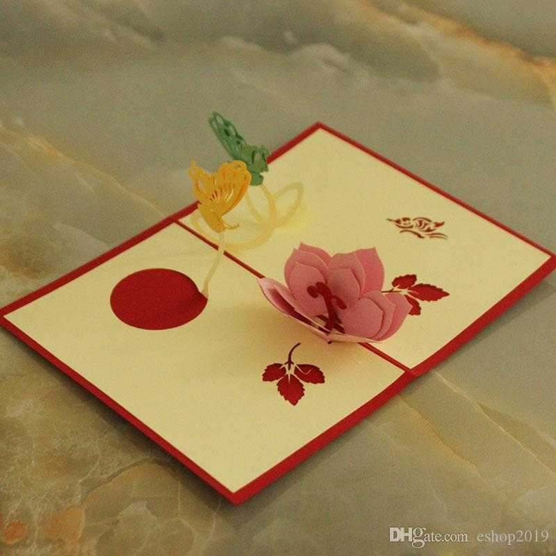 Wholesale party flower invitation card handmade decoration flower wholesale party flower invitation card handmade decoration flower invitation delicate carved pattern invitation de mariage 3d paper craft greet cards stopboris Images