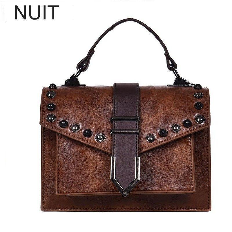 4856cf185bc2 Fashion PU Leather Autumn Retro Women Handbags Women Shoulder Bags Designer  Casual Tote Ladies Hand Bags Female Crossbody Black Handbags Weekend Bags  From ...