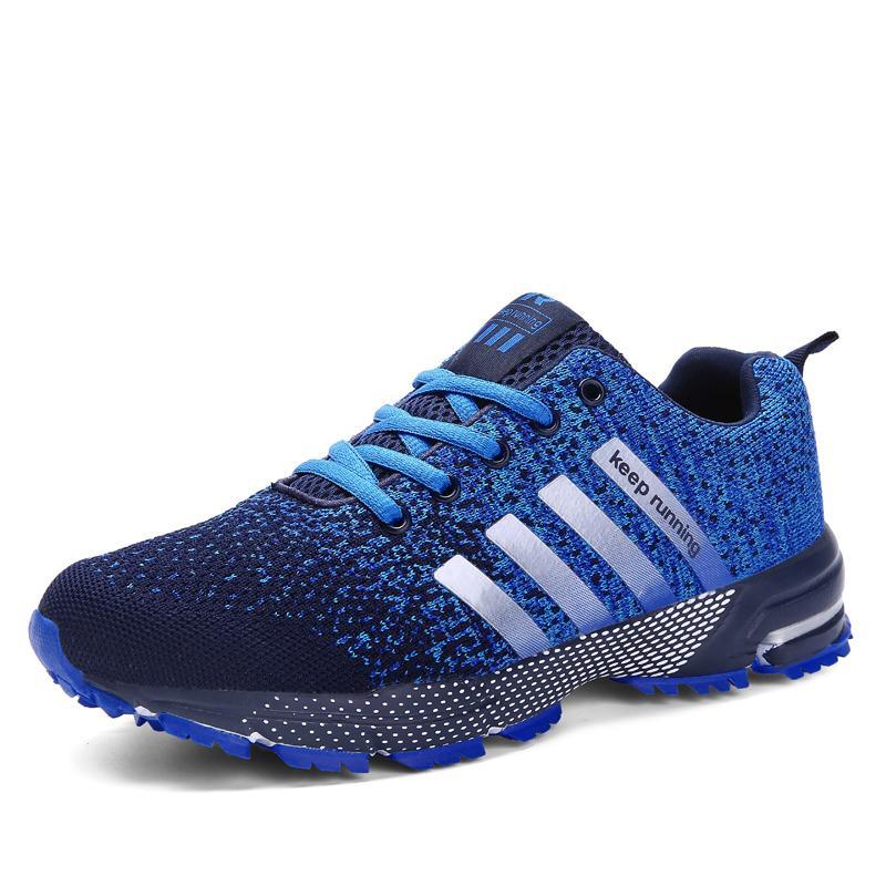 c158d65f Compre Para Adultos Hombres Mujeres Al Aire Libre Correr Atlético Jogging Zapatos  Para Caminar Con Cordones Para Hombre Antideslizante Cómodo Zapatillas ...