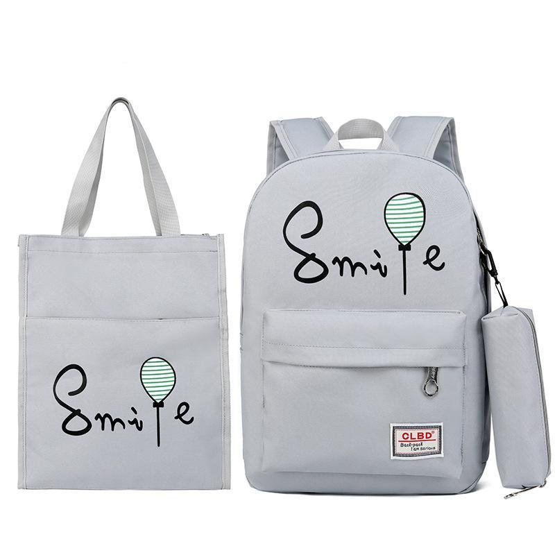 Nylon Teenagers School Backpack Solid Boy Schoolbag for Teenager ... 2ed80c59ad731