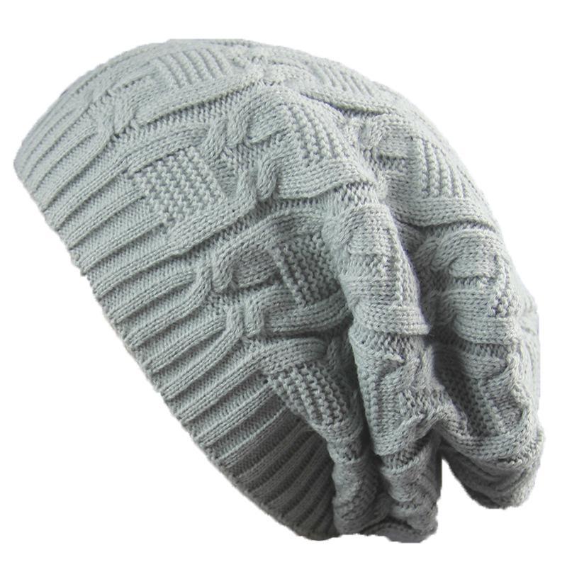 5689163ec Unisex Skullies Beanie Women Knitting Cap Hat Skully Warm Chunky Soft  Stretch Cable Knit Slouchy Beanie Winter Hats Ski Cap