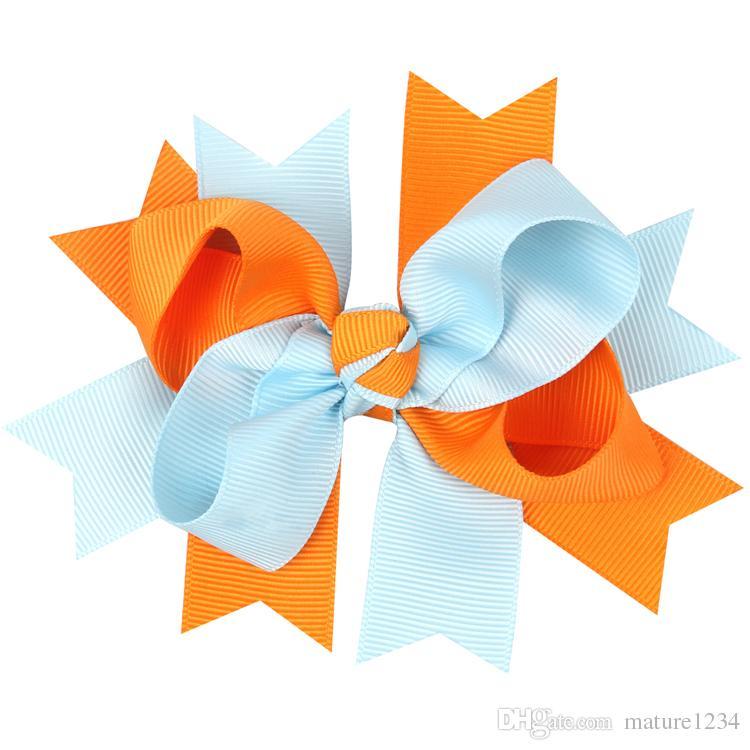 children Big Bow Hairpins Ribbon Bows Clips Hair Bow For Girls Bow Boutique Hair Clip Headwear Kids Hair Accessories fashion