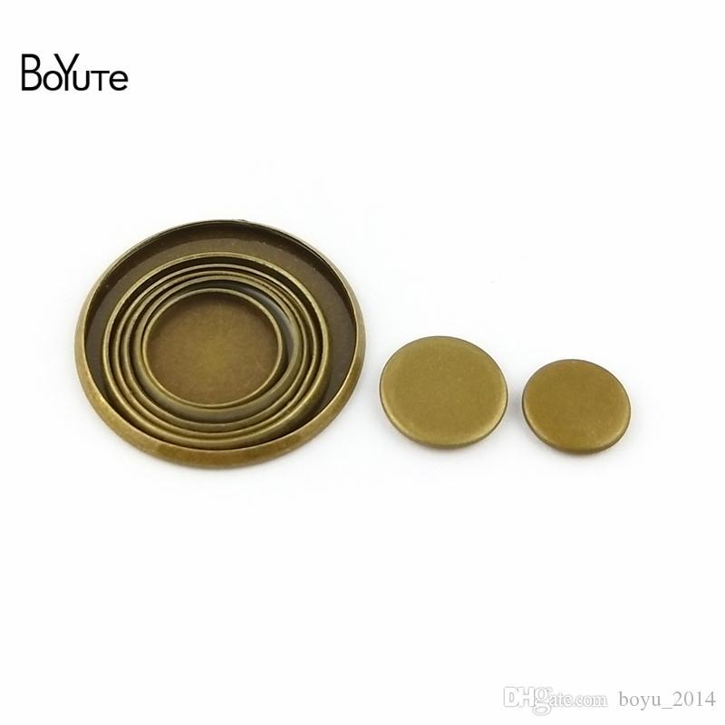 BoYuTe Round 8MM 10MM 12MM 14MM 16MM 18MM 20MM 25MM Cameo Cabochon Base Vintage Bronze Diy Blank Tray Bezel Setting