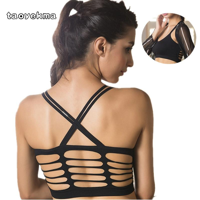 646727a719de3 2019 2018 New Women Cross Design Sports Bra Push Up Shockproof Vest Tops  With Padding For Running Gym Fitness Jogging Yoga Bra B82 From Bingquanwat