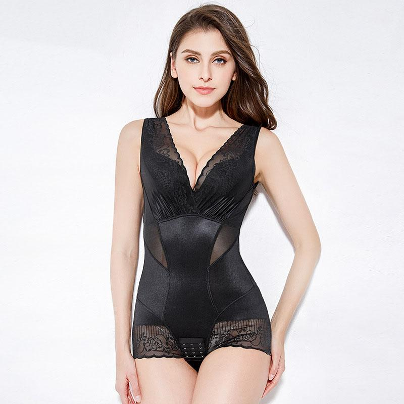 Sexy Women Body Shaping Underwear Sexy Lace Postpartum Abdomen Slimming Shaperwear Jumpsuit Waist Trainer Thin Section Bodysuits