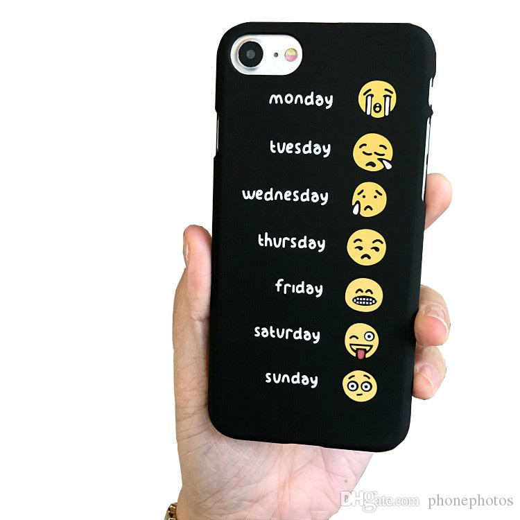 buy online 261c9 36060 Cute face expression smiling face phone case for iphone7 phone shell for  iphone6s plus frosted hard shell men women back cover
