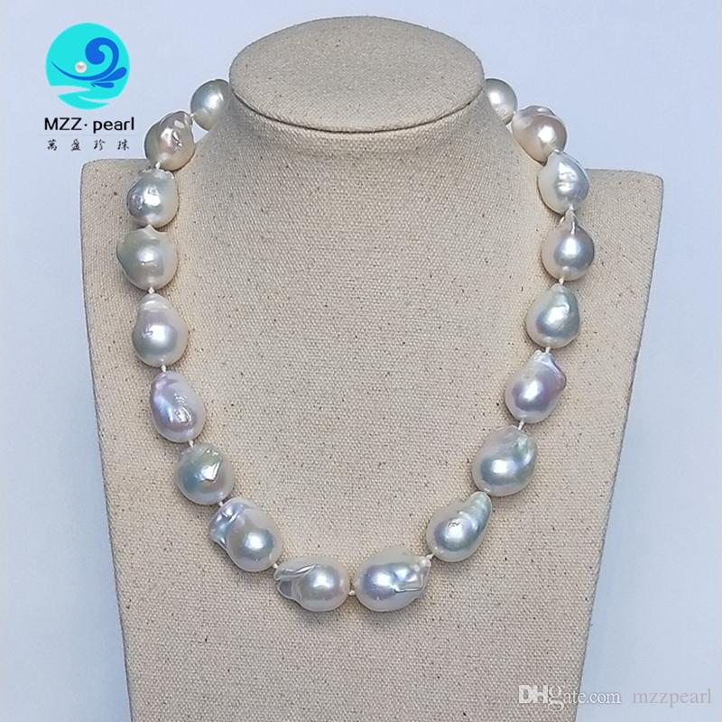 Home 2019 Latest Design Natural Freshwater Pearls 100 Grey Irregular Shaped Pearl Necklace Sweater Chain