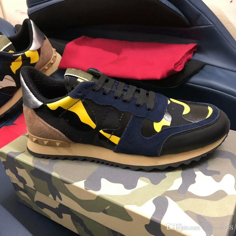 1fa4cdd46a89 Perfect Rock Runner Camouflage Leather Sneakers Shoes Men