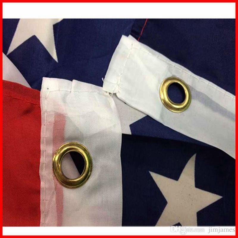50 unids Banderas de EE. UU. Bandera Americana EE. UU. Jardín Oficina Banderas Banderas 3x5 FT Bannner Calidad Estrellas Rayas Poliéster Bandera Robusta 150 * 90 CM H218w