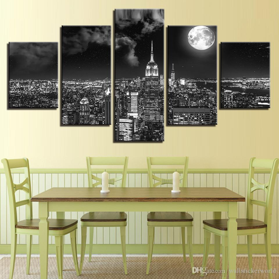2018 Canvas Prints Poster Wall Art Pictures Surreal City Night ...