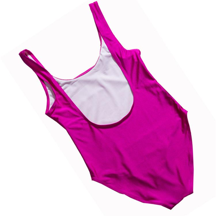 rench kissed Costume da bagno intero 2018 Sexy perizoma Pink Lips Costumi da bagno Donna Costume da bagno high cut Nero Body monokini YWXK