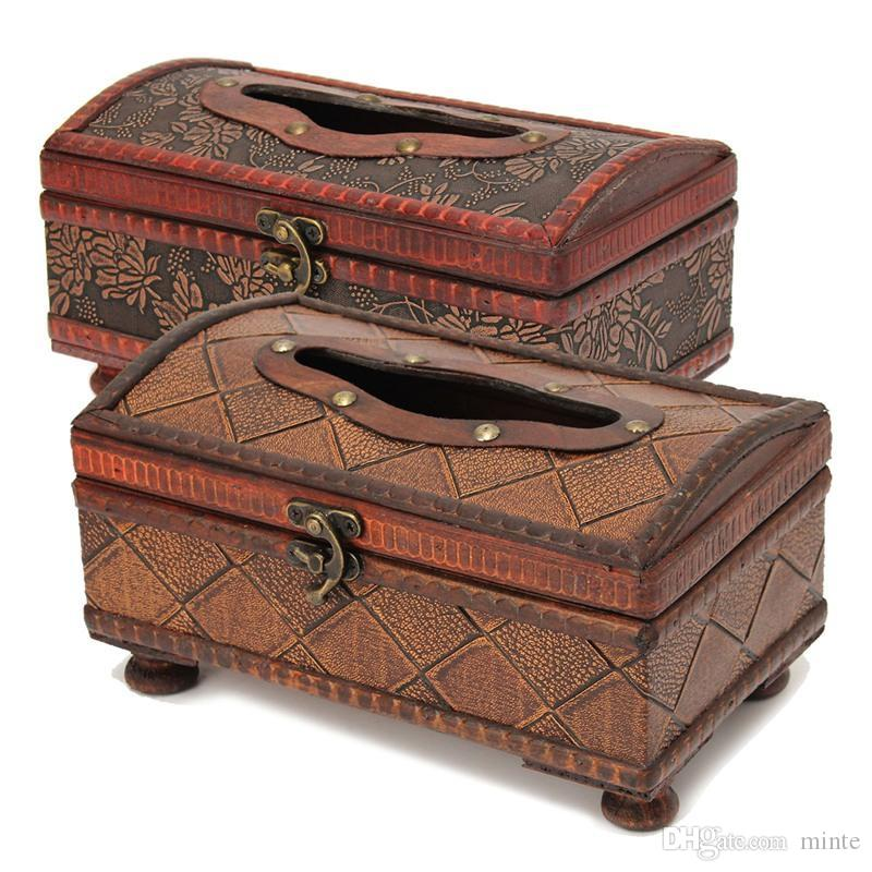 Wholesale- Different Quality Wooden Rectangular Tissue Paper Box ...