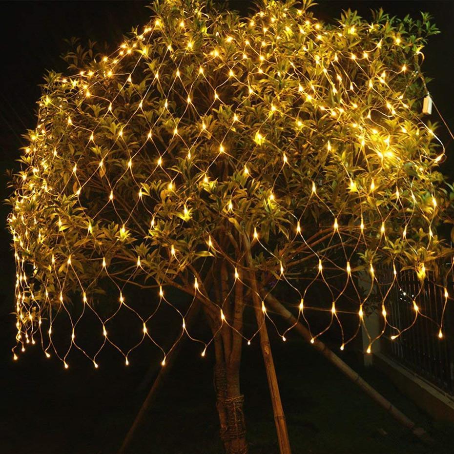 637692ac725 Compre Luces De Navidad Luces De Navidad Para Interiores Decoración  Navideña LED Neto Cadena Malla Decoraciones De Luz Para El Hogar A Prueba  De Agua A ...