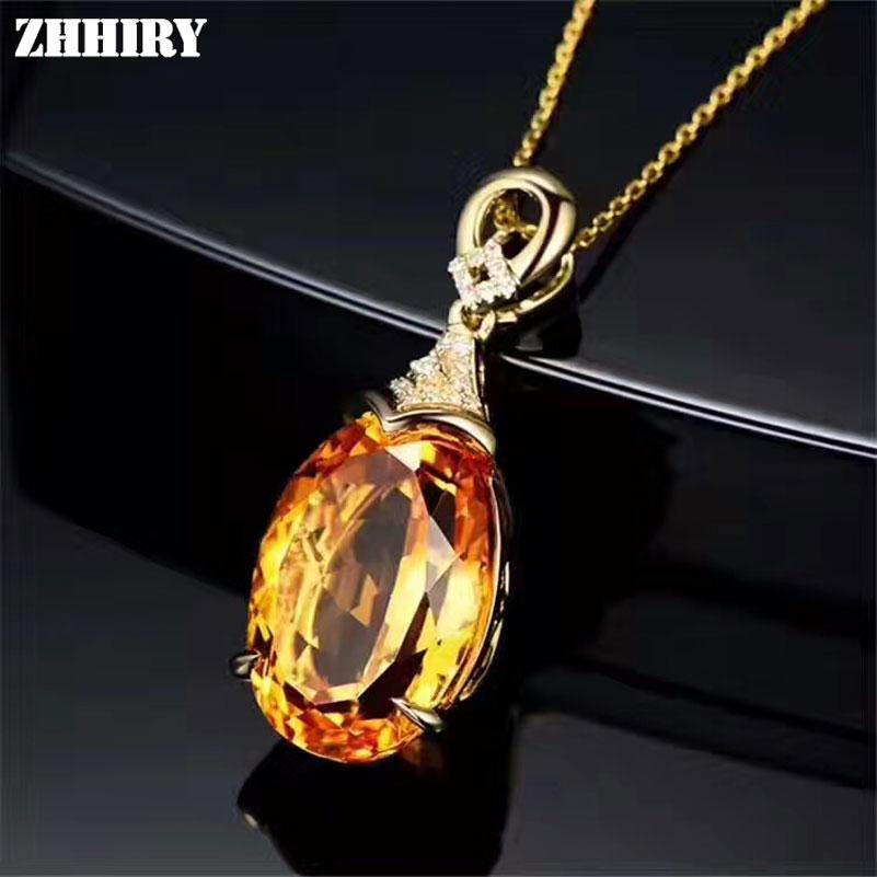 e81e726903cc Collar de citrino amarillo natural colgante genuino de plata esterlina 925  sólida joyería de piedras preciosas
