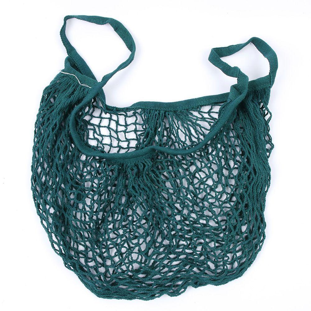 Marka YENI 1 ADET Kullanımlık Dize Alışveriş Bakkal Çanta Shopper Tote Mesh Net Dokuma Pamuk Çanta El Tote