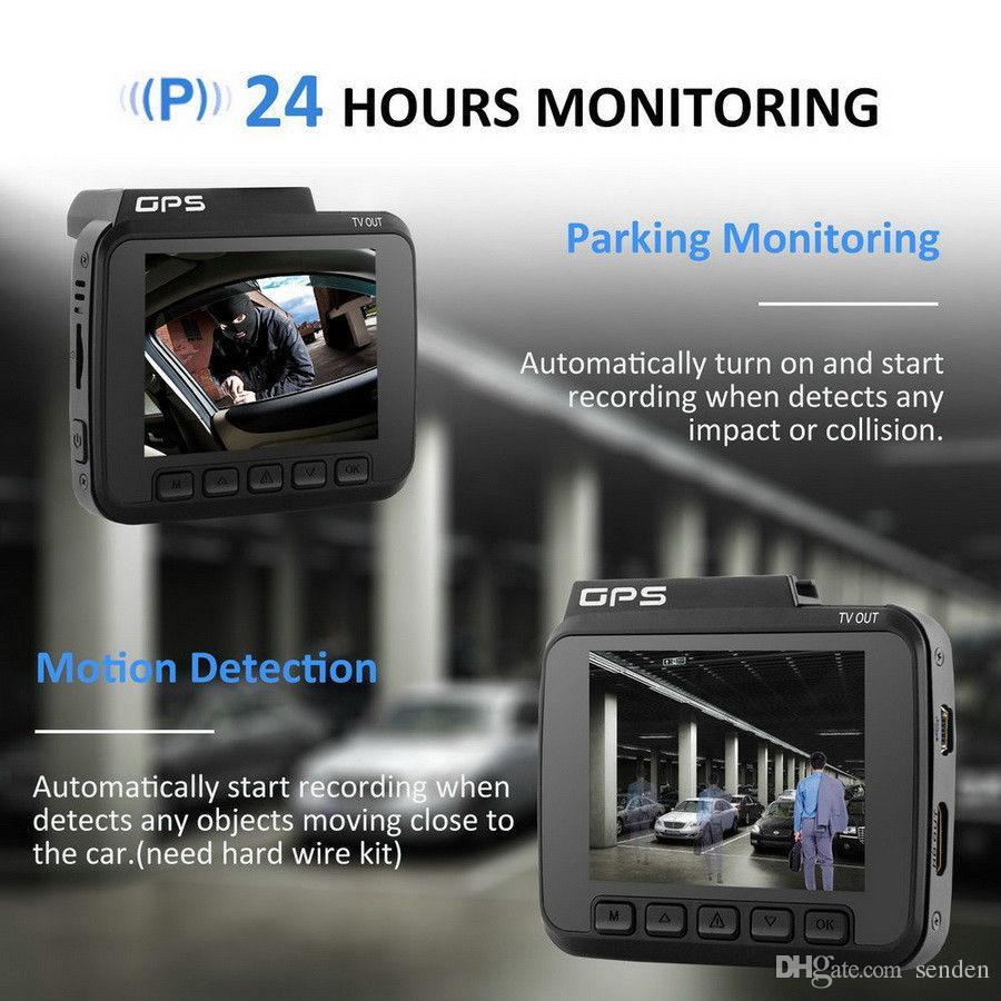 Mini coche DVR Mini dash CAM 4K 2160P Cámara del tablero del coche GPS incorporado Sensor G parabrisas Montaje de succión DVR Visión nocturna Aplicación inteligente CCTV