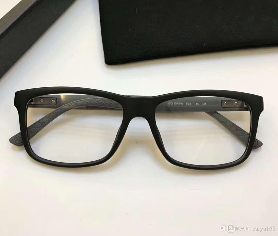 2018 Matte Black Designer 1045 Eyeglasses Frame Glasses 1045/N Full ...