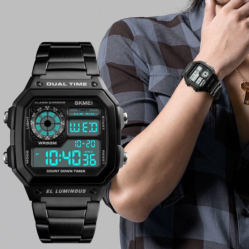 9fff35762e2 Men s Digital Watch Sport Top Brand Luxury Electronic Wristwatch ...