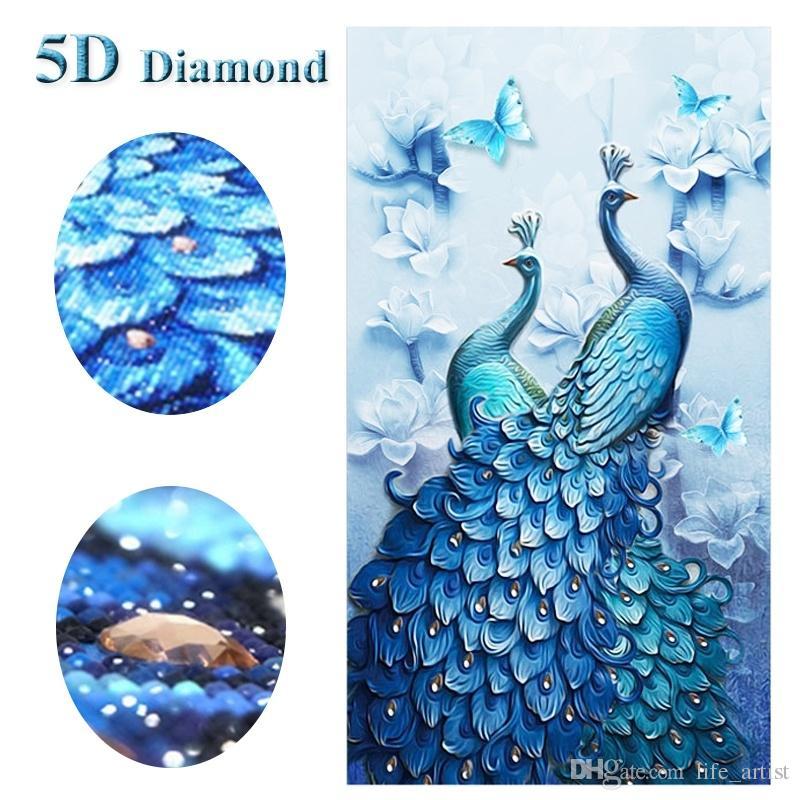 2019 Magnolia Peacock 5d Diy Diamond Painting Animal Embroidery